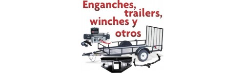 Enganches de arrastre, winches, trailers y accesorios